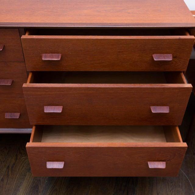 Danish Modern Danish Modern Poul Volther Style Teak Triple Dresser For Sale - Image 3 of 9
