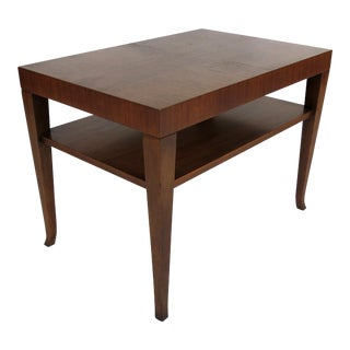 Pair of Walnut Side Table by T.H. Robsjohn-Gibbings For Sale