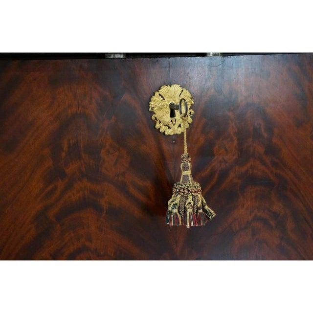 Antique 1852 French Empire Secretaire Abattant Secretary Desk For Sale - Image 10 of 12