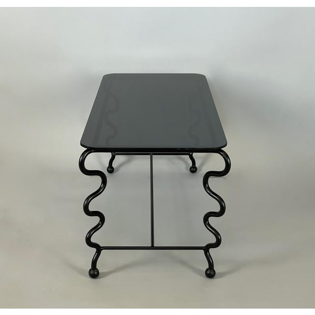 Not Yet Made - Made To Order 'Serpentine' Coffee Table With Black Glass Top For Sale - Image 5 of 13