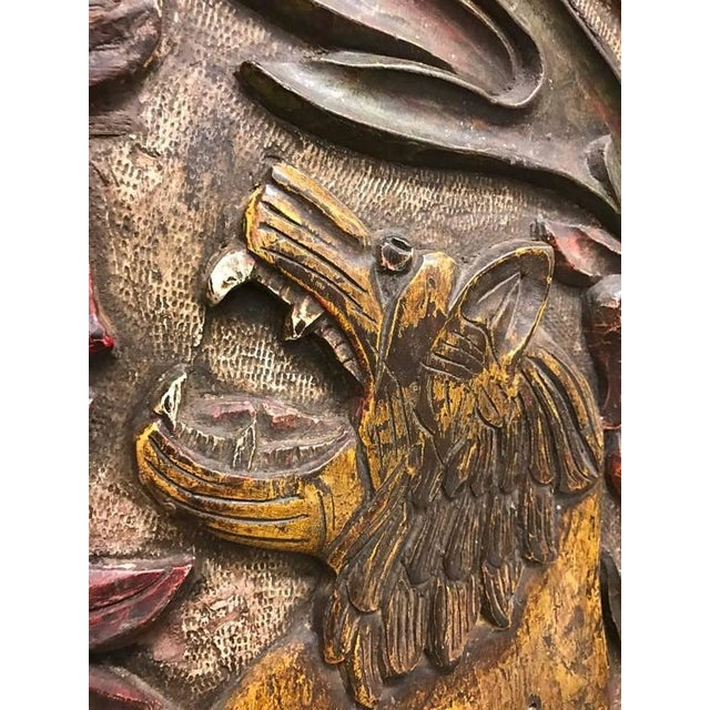 Carved Wood Plaque Depicting Animals For Sale - Image 4 of 10