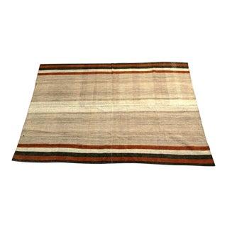 A Persian Jajim Flatweave Striped Carpet For Sale