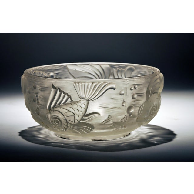 Molded and Frosted Glass Bowl - Image 2 of 6