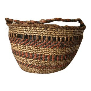 Antique Quinault Gathering Basket For Sale