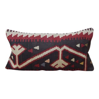 Handmade Turkish Kilim Lumbar Pillow For Sale