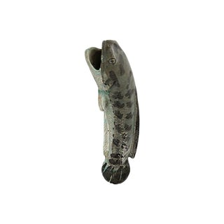 Antique French Fish Wall Pocket Vase For Sale