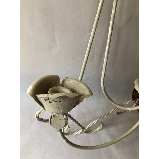Italian Mid-Century Wrought Iron Wall Sconce Candle Holders - Set of 2 For Sale - Image 3 of 10