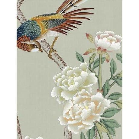 Textile Casa Cosima Henri Green Mural - Sample For Sale - Image 7 of 7