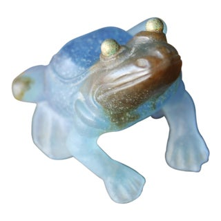 Daum France Crystal Art Large Frog For Sale