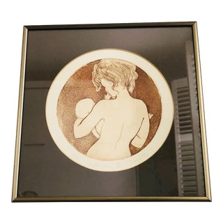 Vintage 1980s Madonna Etching by Garnetta Finnegan For Sale