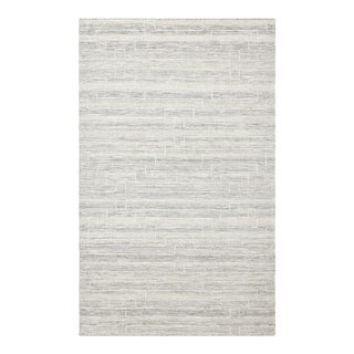Barry, Contemporary Flatweave Hand Woven Area Rug, Beige, 8 X 10 For Sale