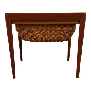 1960s Danish Modern Severin Hansen for Haslev Sewing Table For Sale