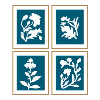 Danube Sunprints Set of 4 by Neicy Frey in Gold Frame, XS Art Print For Sale