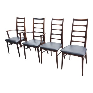 Vintage Niels Koefoed Mid-Century Danish Modern Rosewood Dining Chairs - Set of 4 For Sale