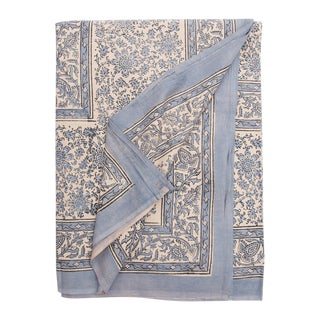 Indian Block Print Tablecloth/Coverlet For Sale