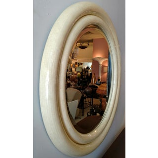 Karl Springer, Tessellated Bone Double Framed Round Bevel Mirror Preview