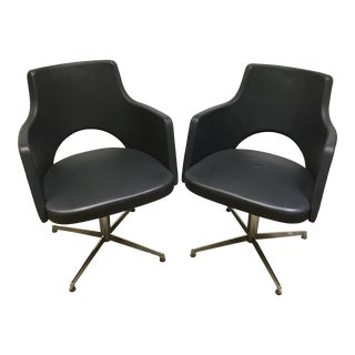 ICF Group Mid-Century Style Swivel Chairs - a Pair For Sale