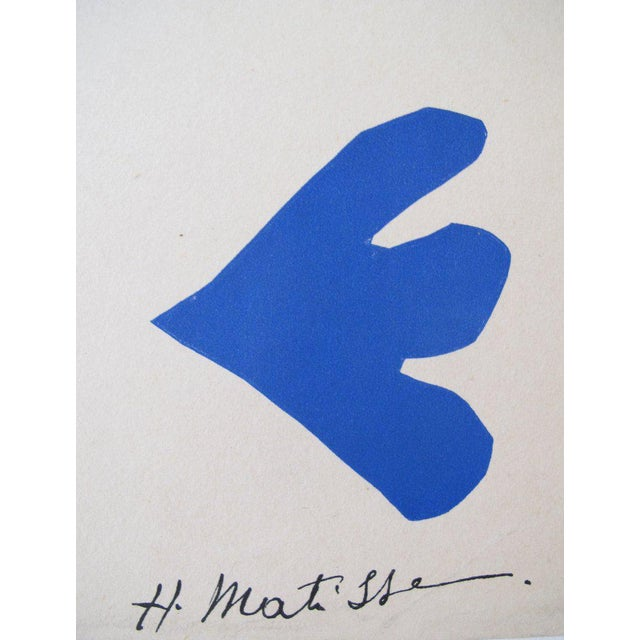 Mid-Century Modern Original 1950's Matisse Exhibition Poster, Tate Gallery London For Sale - Image 3 of 4