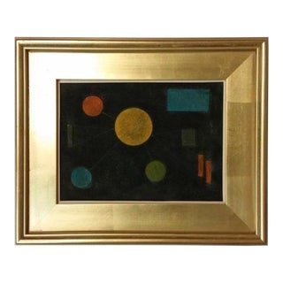 1950s Vintage Abstract Mixed Media Collage by Lolo Soldevilla For Sale