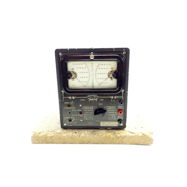 Universal Meter by Triplett Vintage Electric Meter Mounted As Sculpture. Circa 1934 For Sale - Image 4 of 4