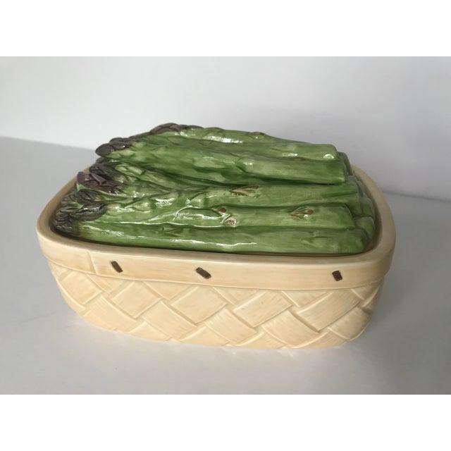 Vintage Ceramic Basket With Asparagus Lid For Sale - Image 12 of 12
