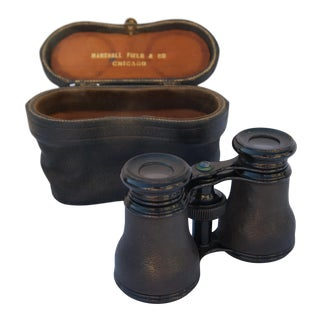Antique French Opera Binoculars With Original Case For Sale