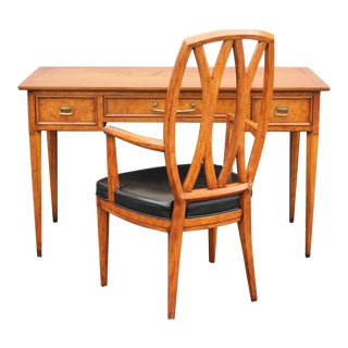 Henredon Mid-Century Writing Desk & Chair Set For Sale