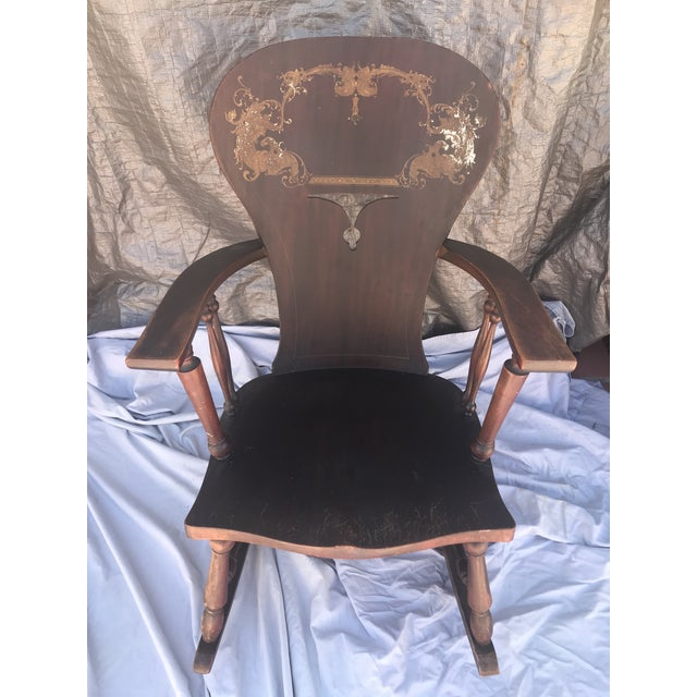 Wood 1900s Vintage Victorian Rocking Chair For Sale - Image 7 of 7