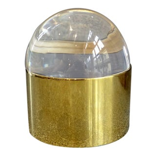 Jonathan Adler Medium Acrylic & Brass Globo Box