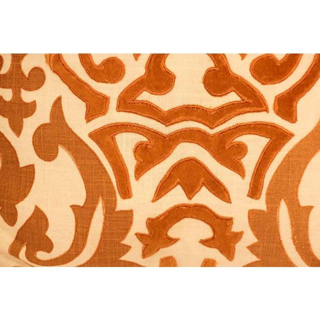Decorative Silk Velvet Applique Throw Pillow For Sale - Image 10 of 11