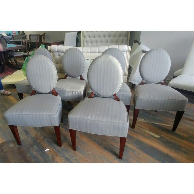 Henredon Furniture Barbara Barry Walnut Oval Back Side Chairs - Set of 6 For Sale - Image 11 of 11
