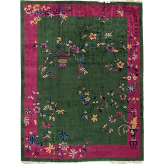 "Chinese Deco Rug - 9' x 11'7"" For Sale"