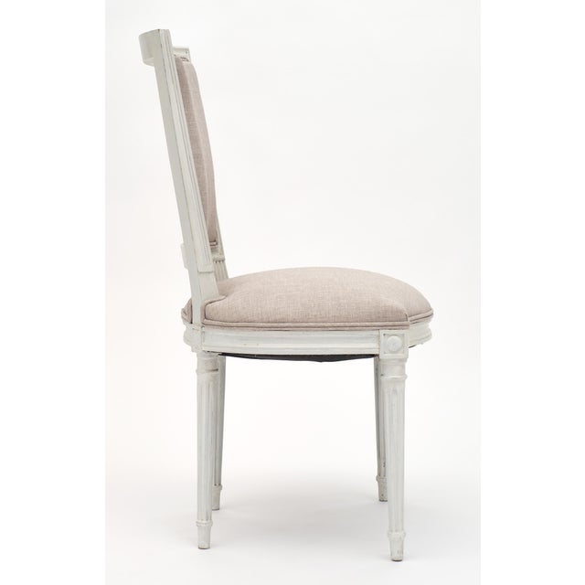 Wood Louis XVI Style Painted Dining Chairs - Set of 6 For Sale - Image 7 of 10