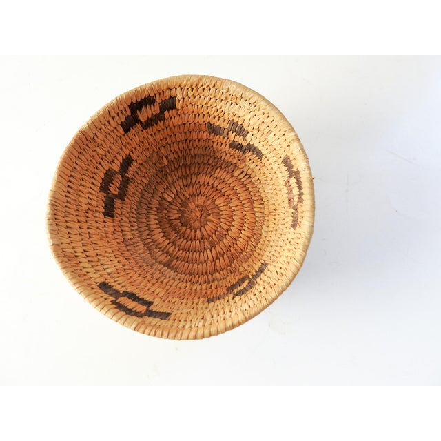 Rustic Small Papago Coil Basket For Sale - Image 3 of 5