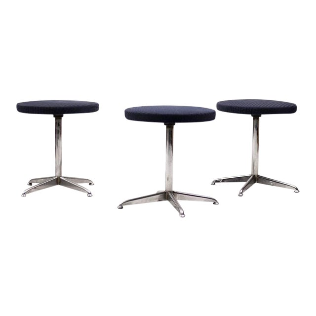 Set of Three Dutch Mid-Century Modern Stools For Sale