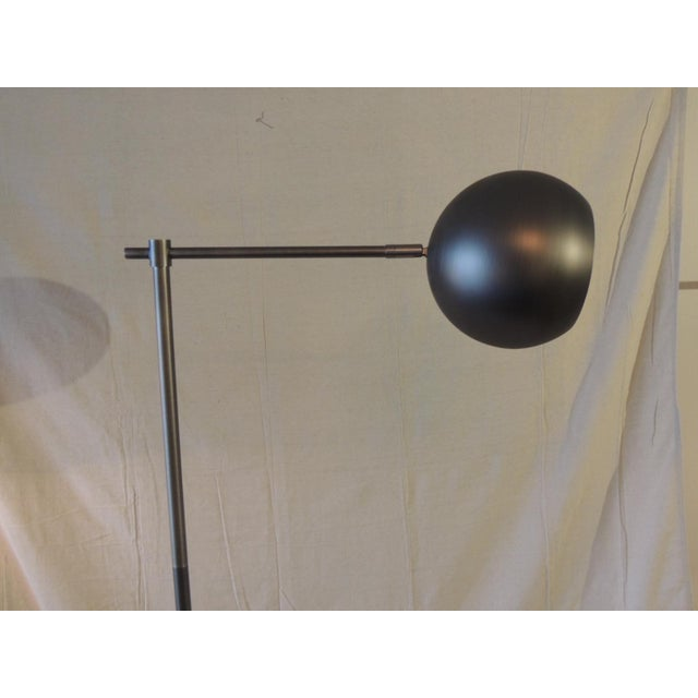 Mid-Century Modern Gun Metal Finish Articulated Floor Lamp For Sale - Image 3 of 6