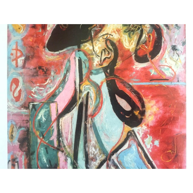 "2000 - 2009 Jackson Pollock Foundation Abstract Expressionist Collector's Lithograph Print "" the Moon - Woman "" 1942 For Sale - Image 5 of 13"