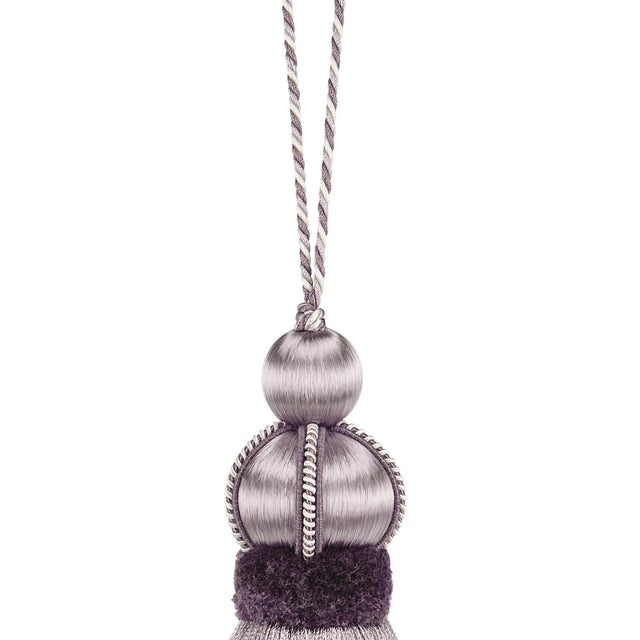 """Contemporary Wisteria Key Tassel With Cut Ruche - Tassel Height - 5.75"""" For Sale - Image 3 of 4"""