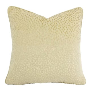 Anna French for Thibaut Spot on in the Color Cream With Self-Welt Pillow Cover For Sale