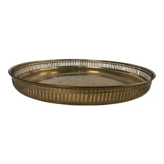 20th Century Art Deco Brass Metal Tray For Sale