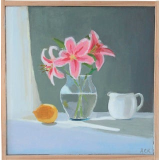 Lilies, Lemon and Creamer by Anne Carrozza Remick For Sale