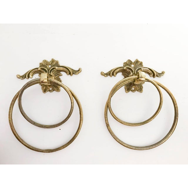 Vintage Brass Towel Holders - A Pair - Image 5 of 5