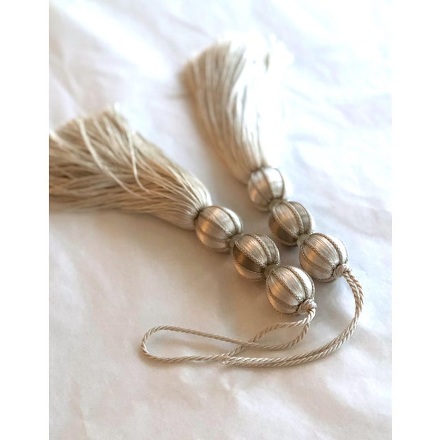 Ivory Beaded Key Tassel - H - 7.5 Inches For Sale In New York - Image 6 of 7
