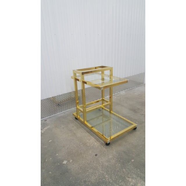 Vintage Brass Bar Cart. For Sale - Image 12 of 13