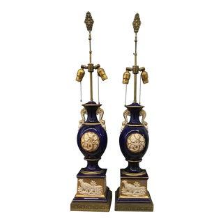 Lamps - Porcelain Lamps - a Pair