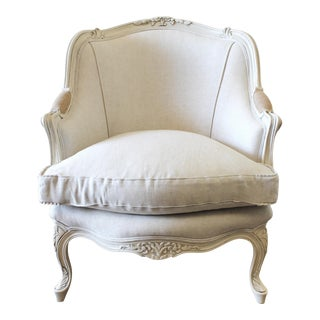20th Century Louis XV Style Bergere Chair For Sale