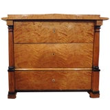 Image of Early 19th Century Austrian Biedermeier Three-Drawer Commode For Sale