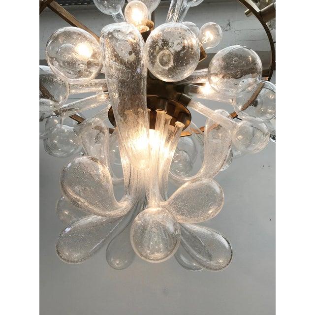 1960s Czech Republic Glass Suspension Chandelier For Sale - Image 9 of 12