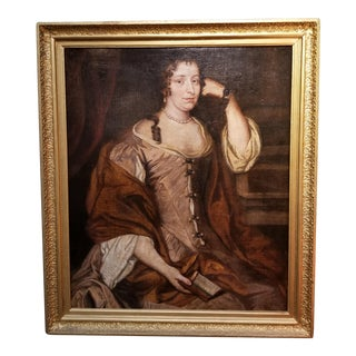 18th Century Portrait Painting of a Woman For Sale