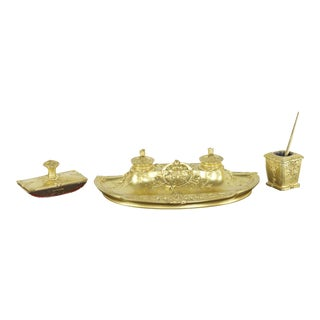 Susse Frères Desk Inkwell Writing Set by Armand Guénard circa 1910